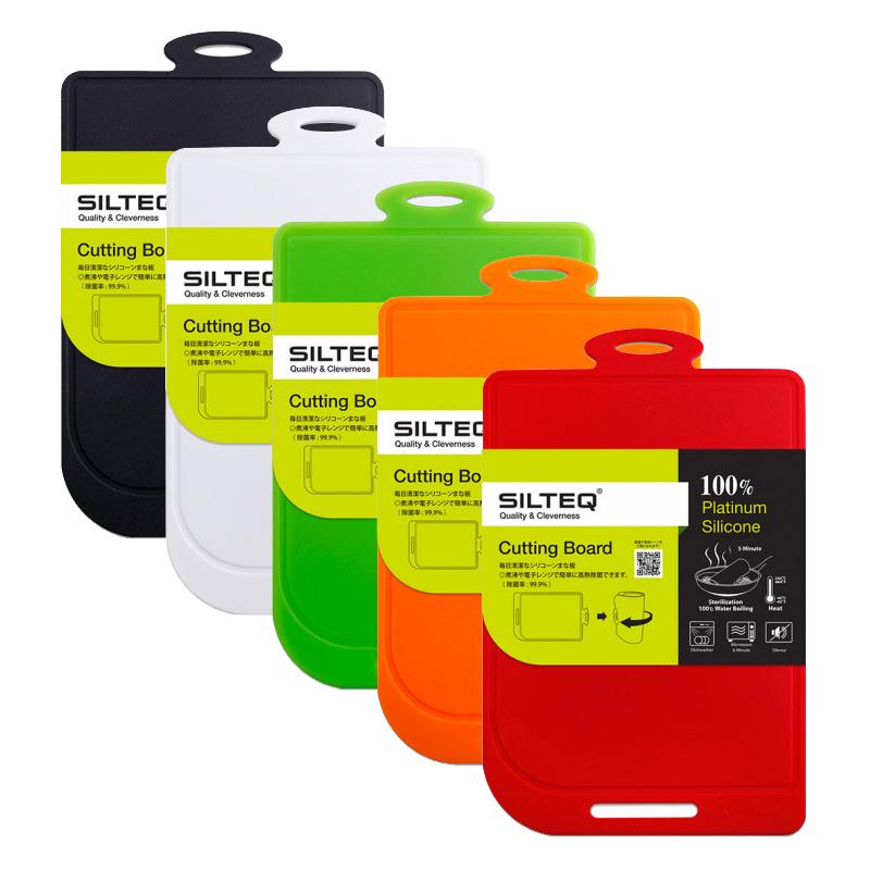 SILTEQ (シルテック) きれいのミカタ 丸めて煮沸除菌できるまな板 Mサイズ